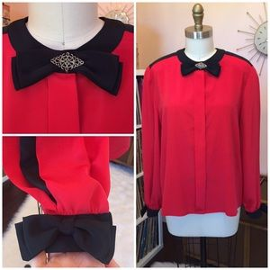 """""""ULTRA COOL"""" 80's/90's Vintage Blouse with Bows"""